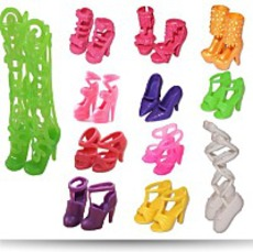 12 Pairs Of Doll Shoes
