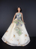 ivory gown flower motif barbie doll