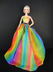 stunning rainbow inspired gown barbie doll