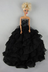 beautiful black dress lots ruffles barbie