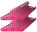doll hangers pink plastic fits barbie