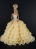 soft yellow long gown layers ruffle