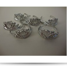 6 Pack Of Doll Crowns In Silver Made
