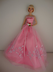 delicate pink dress roses waist barbie