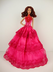 solid pink gown flower botice barbie