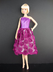 purple knee dress covered roses cute