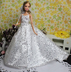 barbie romantic sequins wedding gown bride