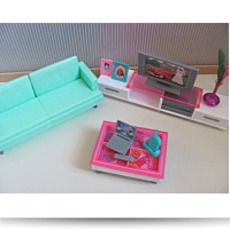 Barbie Size Dollhouse Furniture Family