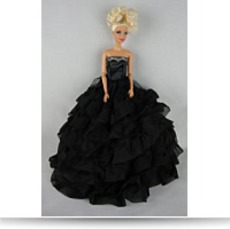 Beautiful Black Dress With Lots Of Ruffles