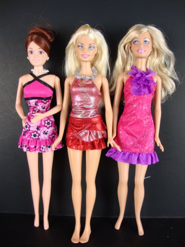 Group Of 6 Beautiful Cocktail Dresses Barbie Clothing