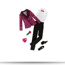 Ken Clothes Plaid Tuxedo Fashion Outfit