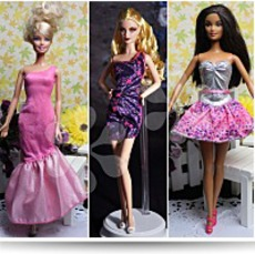 Lot Of 3 Barbie Dresses Clothes