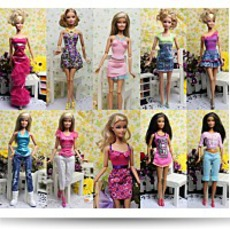 Lot Of 5 Barbie Dresses Clothes