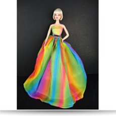 Stunning Rainbow Inspired Gown Made