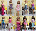 barbie dresses clothes handmade dolls included