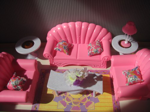 Barbie Size Dollhouse Furniture Living